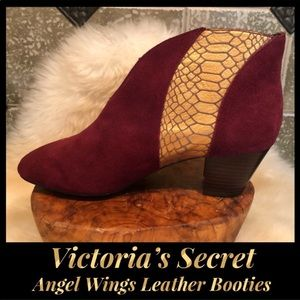Victoria's Secret 💜 Angels Wings Leather Booties